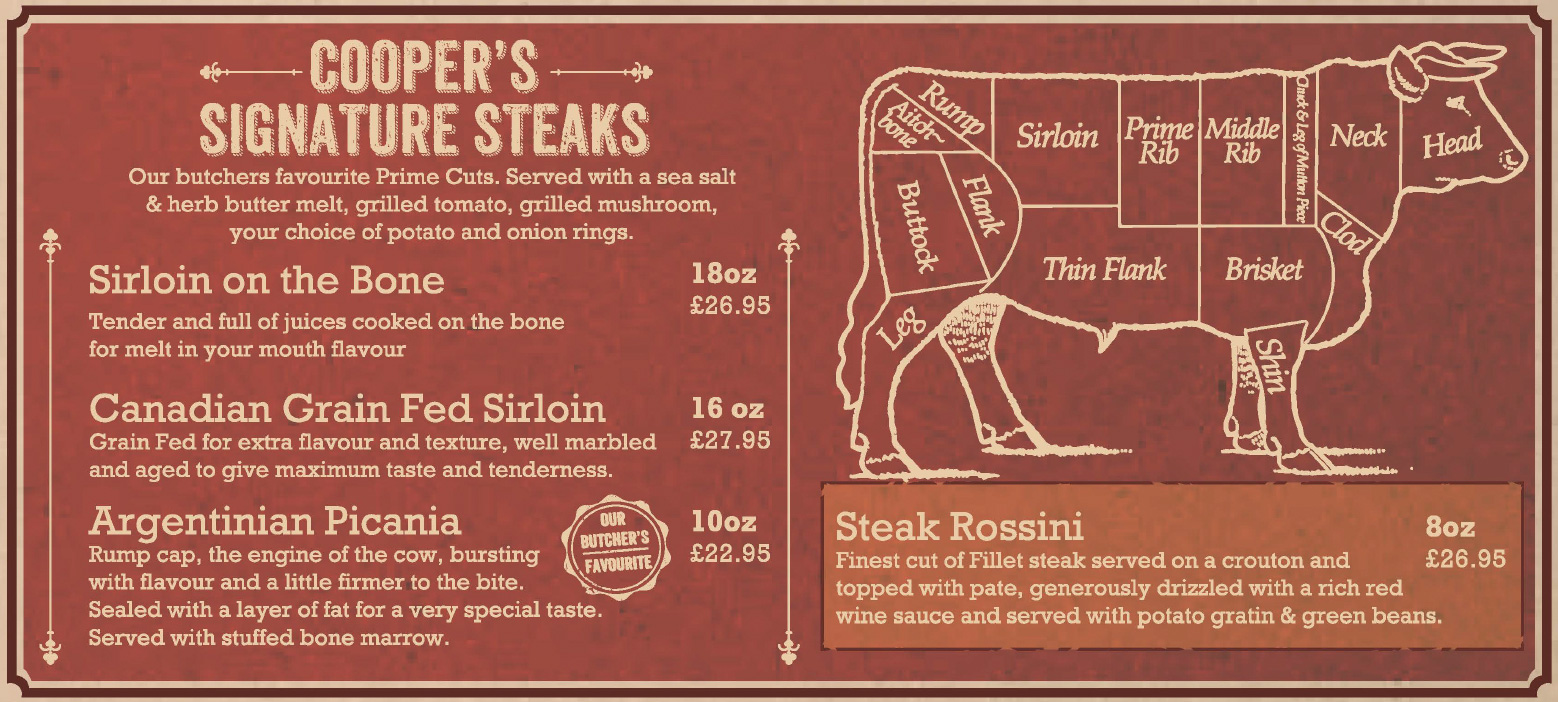 Coopers Signature Steaks