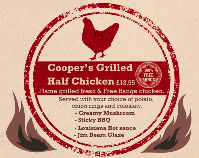 Coopers Grilled Half Chicken - £13.95